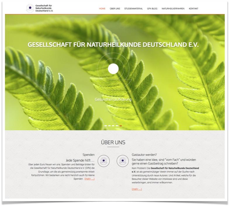 Webseite mit Parallax Design